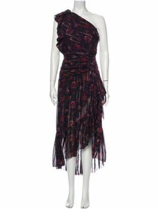 Ulla Johnson Silk Midi Length Dress Black