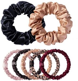 Slip Silk Plum Rose Mega Scrunchie Collection (Set of 7)
