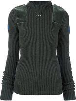 Off-White shoulder detailing ribbed sweater