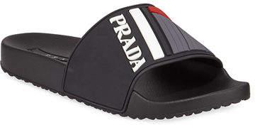3ca01a8cf096 Prada Slides Men - ShopStyle