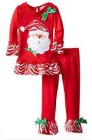 Comemall Toddler Girls Santa Cotton Sleepwear Shirt&Pants Pajamas Sets 2 Pieces
