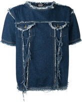 Andrea Crews frayed denim T-shirt - men - Cotton - S
