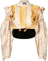Litkovskaya - cascade bomber jacket - women - Silk/Polyester - 36
