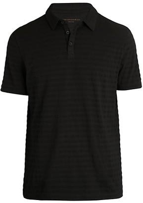 John Varvatos Textured Stripe Polo T-Shirt