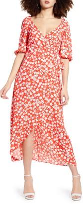 Leith Print Midi Wrap Dress