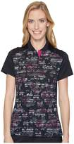 Callaway Stained Glass Floral Print Polo Women's Sleeveless