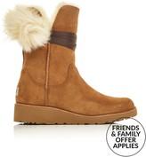 UGG Brita Shearling Lined Pompom Trim Boots