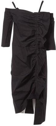 Isa Arfen Black Cotton Dress for Women