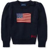 Ralph Lauren 2-6X Flag Cotton Crewneck Sweater
