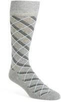 Nordstrom Men's 'Cushion Foot' Diamond Plaid Socks