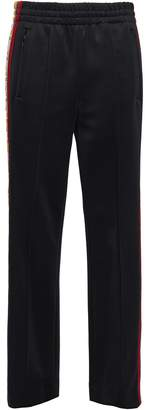 Marc Jacobs Jacquard-trimmed Ponte Straight-leg Pants