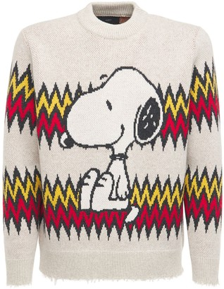 Alanui Snoopy Plays Wool & Cashmere Sweater