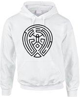 Allntrends Adult Hoodie Sweatshirt Maze Map Black Print Cool TV Show Fans (XL, )