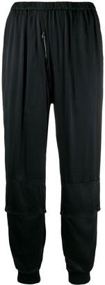 Katharine Hamnett Runner silk satin trousers