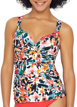 Anne Cole Signature Sunset Floral Underwire Tankini Top