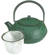 Kafu Large Japanese Cast Iron Teapot / Green Bamboo 20 OZ