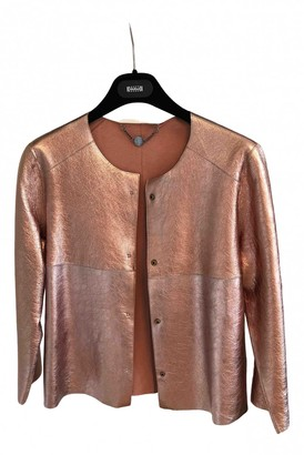 Marc Cain Metallic Leather Jacket for Women