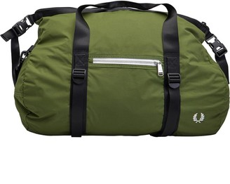Fred Perry Mens Roll Top Barrel Bag Olive 1964