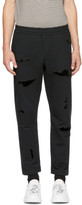 Alexander Mcqueen Black Shredded Lounge Pants