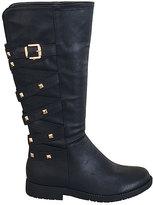 Black Studded Star Boot