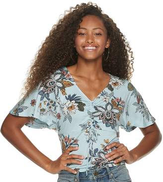 American Rag Juniors' Ruched Front Short Sleeve Top