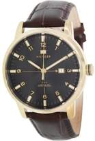 Tommy Hilfiger Men's George Brown Leather Band Watch 1710329