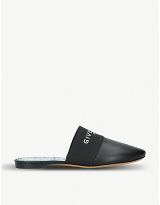 Givenchy Bedford logo-print leather backless mules