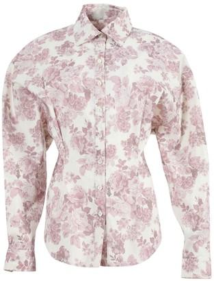 Magda Butrym Lozanna Floral Pink Shirt