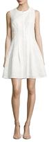 Rachel Roy Laser Cut Flared Dress