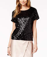 Bar III Sequined Mesh Top, Created for Macy's