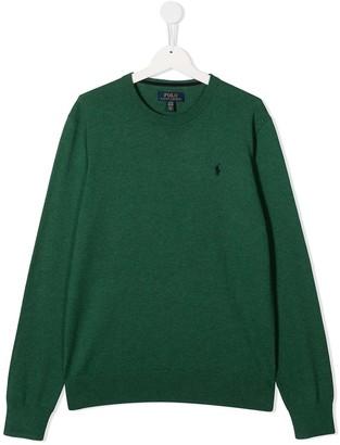 Ralph Lauren Kids TEEN logo-embroidered jumper