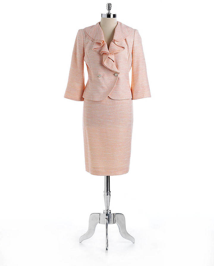 NIPON BOUTIQUE Two-Piece Ruffled-Collar Skirt Suit