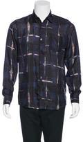 Dries Van Noten Plaid Silk Shirt