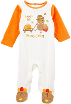 Baby Starters Ivory & Orange 'Baby's 1st Thanksgiving' Footie - Infant