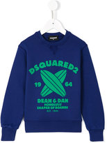 DSQUARED2 surfboard print sweatshirt - kids - Cotton - 4 yrs