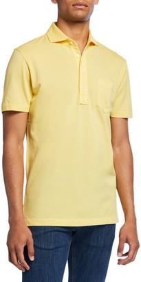 Ralph Lauren Purple Label Men's Jersey Pocket Polo Shirt, Yellow