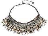 Nanette Lepore Fringed Faux Pearl Bib Necklace