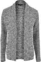 River Island Mens Grey soft foldback cardigan