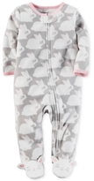Carter's Bunny-Print Footed Coverall, Baby Girls (0-24 months)
