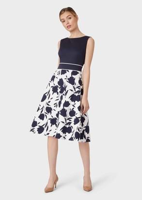 Hobbs Una Cotton Blend Floral Dress