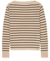 Max Mara Alghero Striped Silk And Linen-blend Sweater - Beige