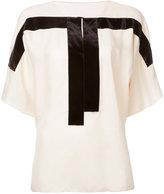 MS MIN contrast panel blouse