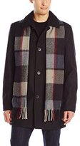 Vince Camuto Men's Wool-Blend Coat With Scarf