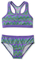 L.L. Bean Girls BeanSport Racer-Back Bikini, Print