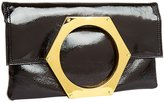 Jonathan Adler Goldie Foldover Clutch (Women) - Black