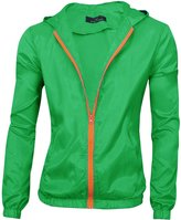 uxcell® Men Zip Down Long Sleeves Elastic Cuffs Hoodie Jackets M