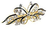 uxcell Metal Woman Butterfly Faux Rhinestone Inlaid Hair Clip Hairpin Barrette Styling