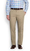 Lands' End Men's Plain Front Tailored Fit No Iron Chino Pants-White