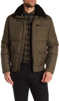 Kenneth Cole New York Faux Shearling Nylon Down Jacket