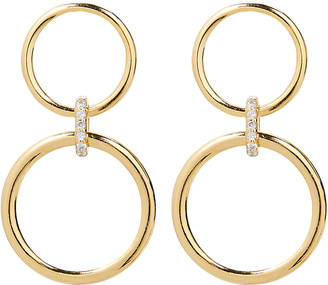 ela rae Double Circle Drop Earrings